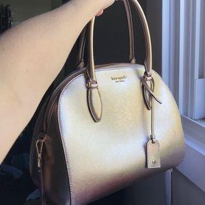 Kate spade rose gold cross body purse